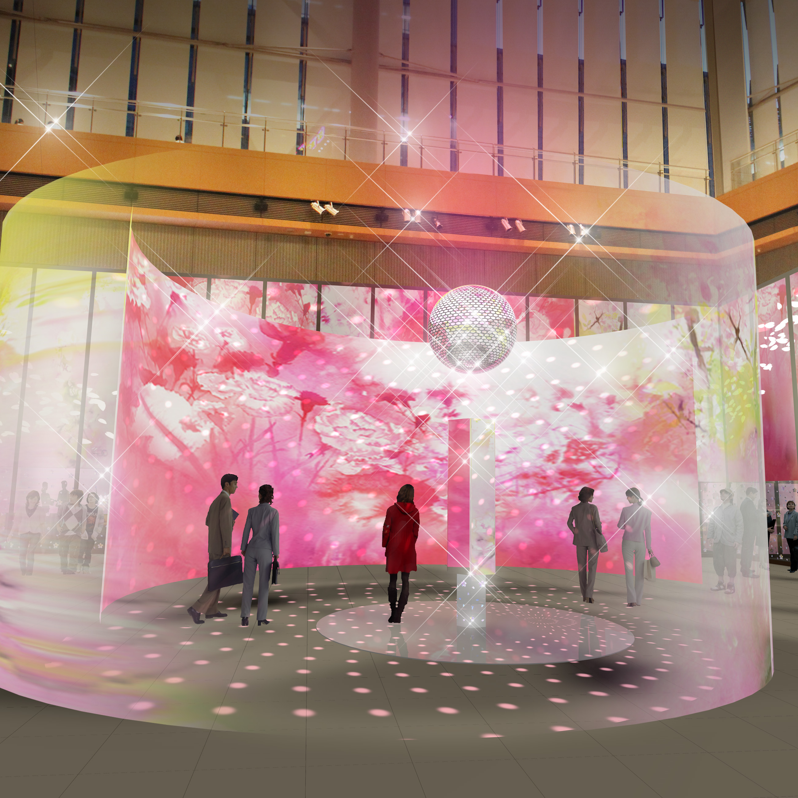 SAKURA in Marunouchi - Art Installation by OHGUSHI (article by amuzen)