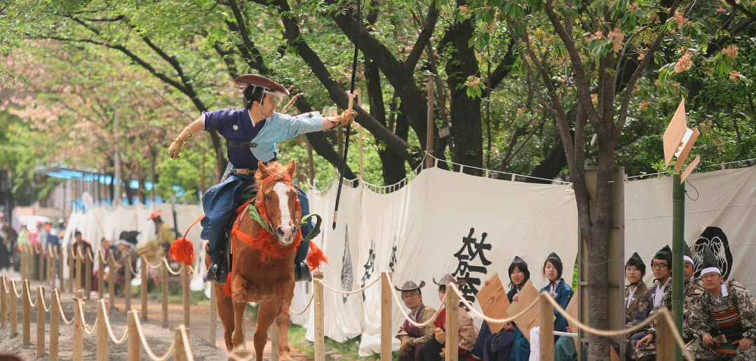 Spectacular, must-see traditional event: Asakusa yabusame (horseback archery)