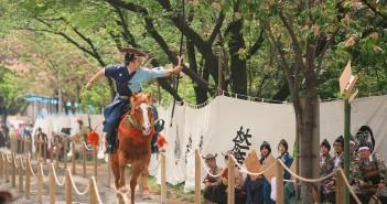 Spectacular, must-see traditional event: Asakusa yabusame (horseback archery)