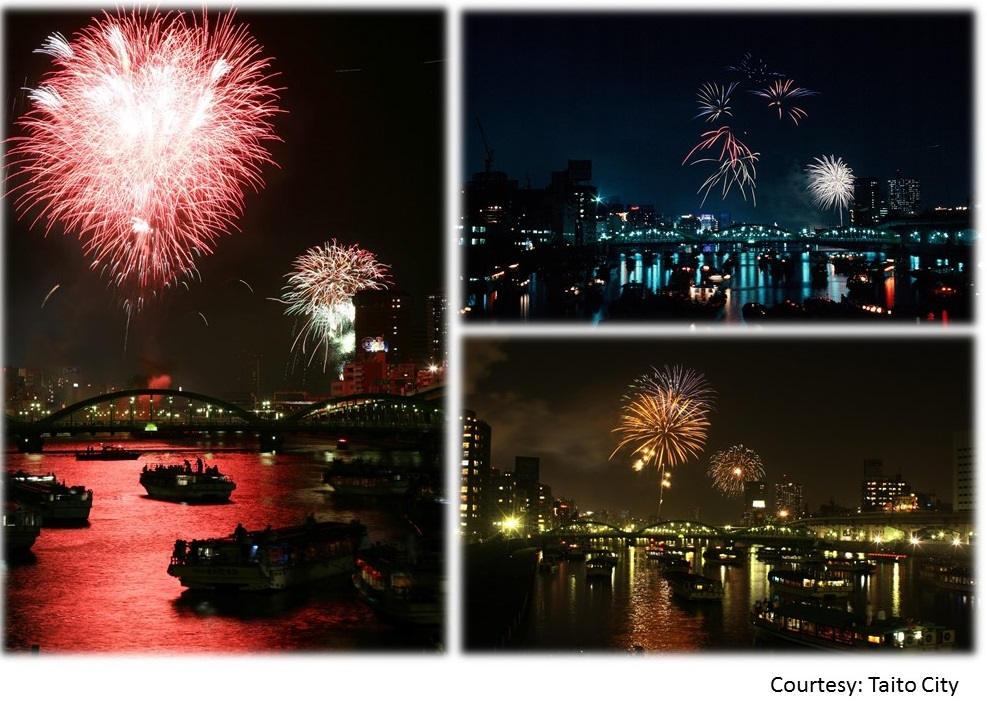 """39th Sumida River Fireworks Festival 2016 – where to watch?"" (amuzen article)"