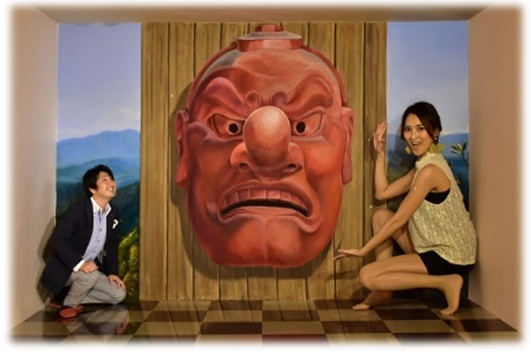 Trick Art Museum at the foot of Mount Takao (amuzen article)