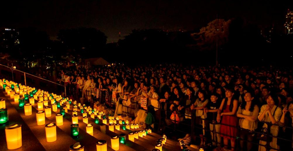 A Million People's Candle Night 2017 at Zojo-ji Temple / Organic Fest