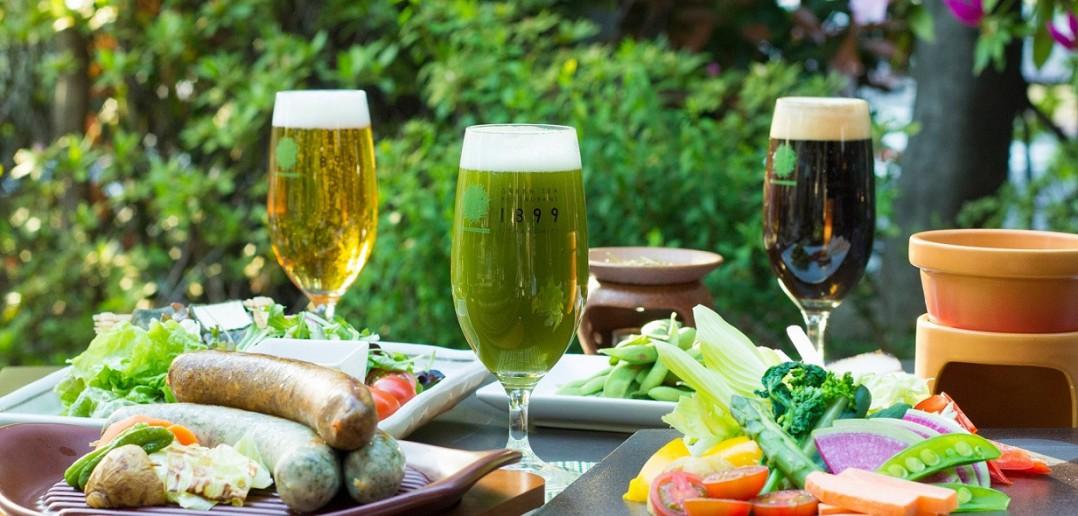 Matcha Beer Garden