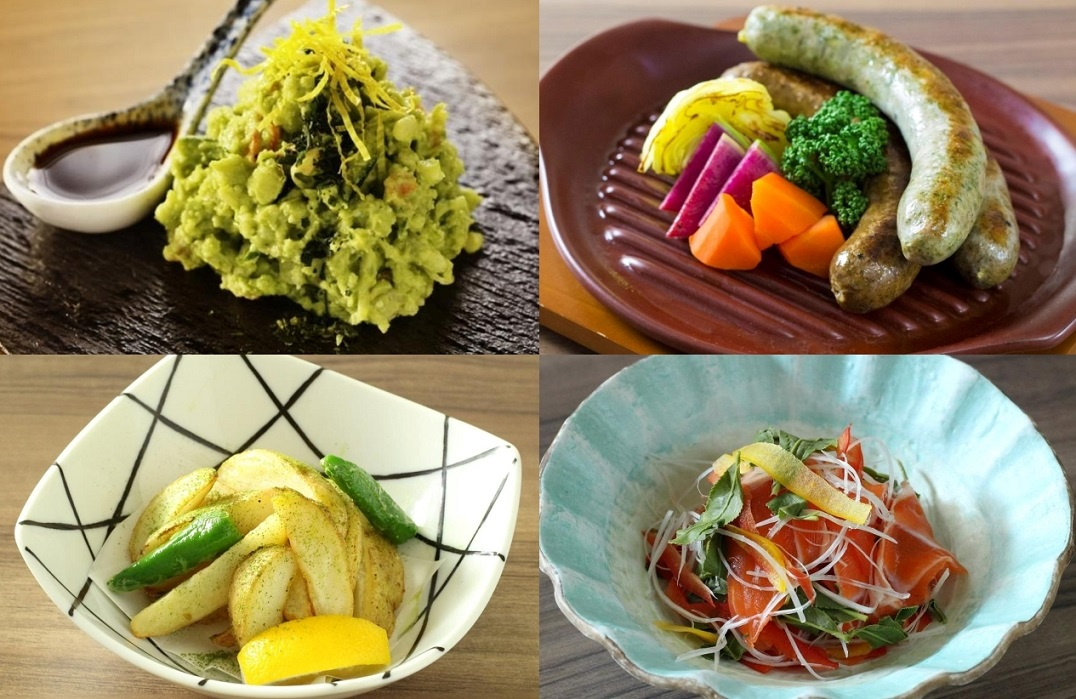 "13 dishes of ""tea cuisine"" are available"