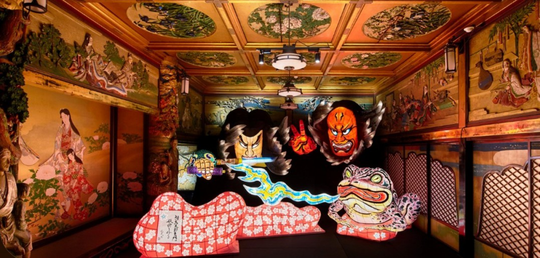 Japanese art illumination at One-hundred-step Staircase 2017