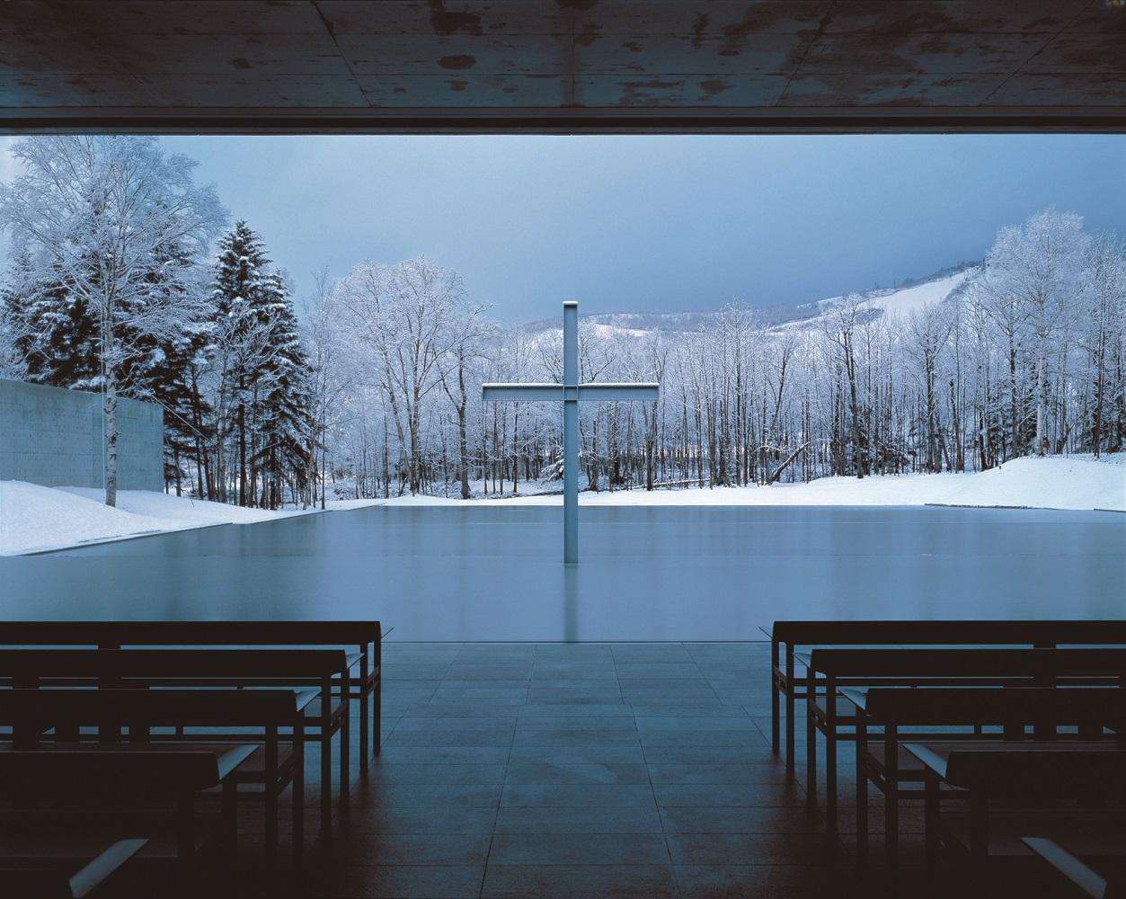 Church on the Water, Yufutsu-gun, Hokkaido, 1988 © Yoshio Shiratori