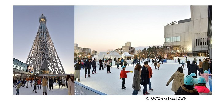 Skating at Tokyo Skytree Town 2019