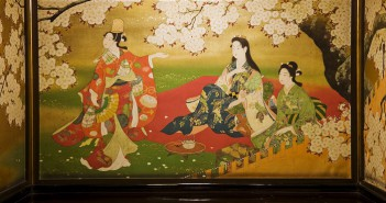 Cherry blossoms in art at Hyakudan kaidan
