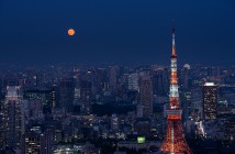 Moon viewing at Roppongi Hills: the 15h and the 13th Night