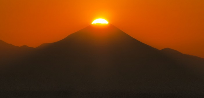Diamond Fuji at Sunshine 60 Observatory